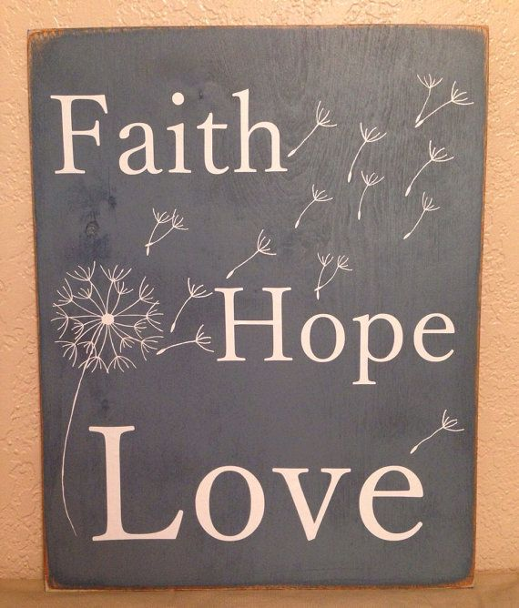 Love Decor Signs: Dandelion Faith Hope Love Sign On Etsy, $10.00