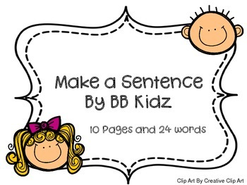 Make a Sentence is picking sight words to go in the sentence correctly.  24 sight words are used to fill in the blanks to make sentences.  They can also draw a picture at the end of the sentence.  This activity is for Kindergarten or First Grade.  This is a great way to learn and read sight words or high frequency words.