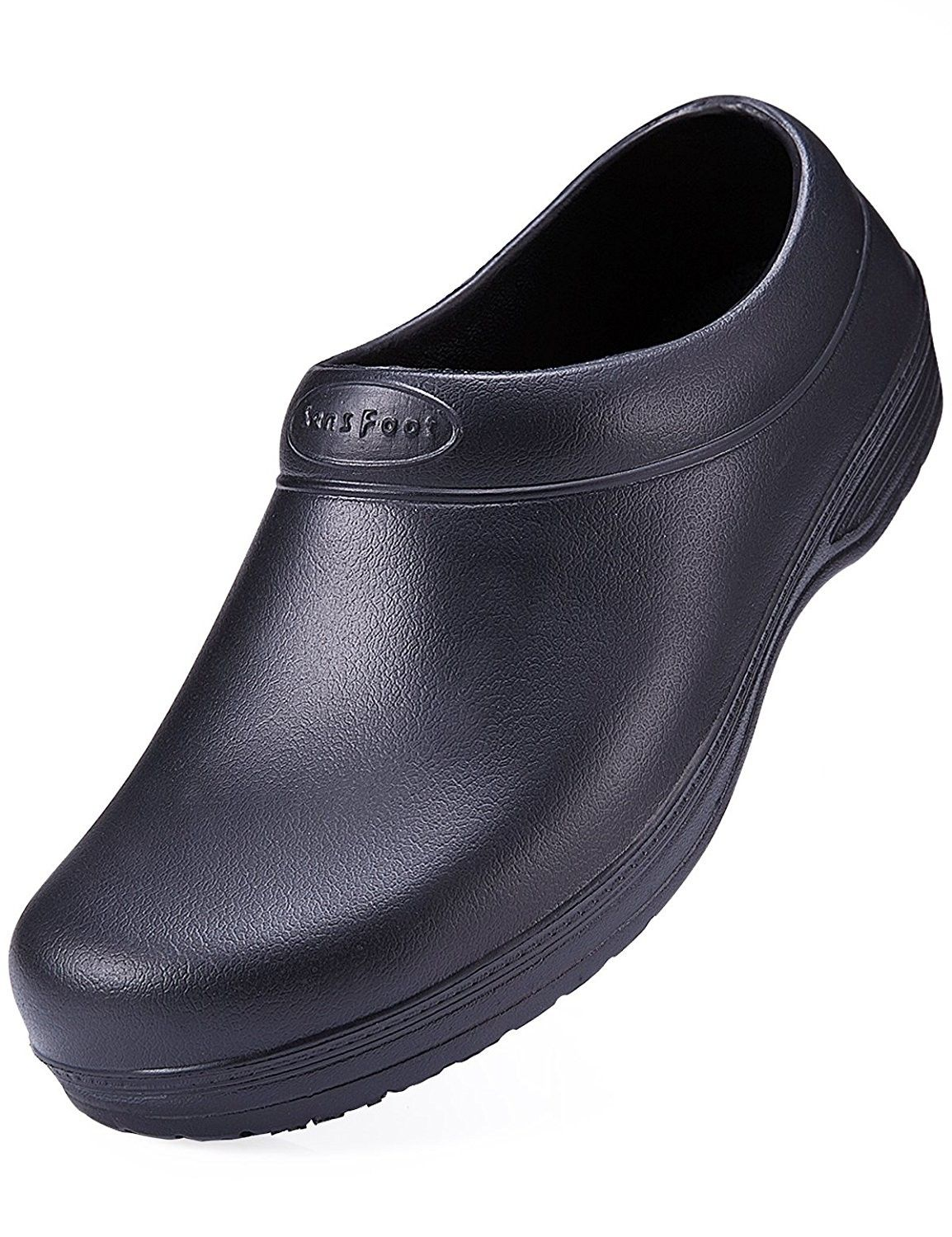Slip Resistant Chef Shoes Black Non Slip Kitchen Work Clogs For
