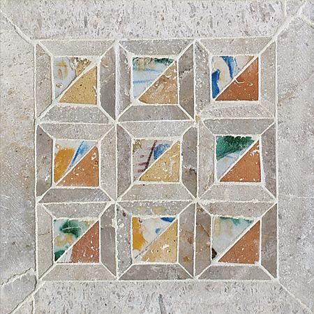 Chana Quilt Honed Limestone Mosaics 8x8 With Images Mosaic Decorative Tile Quilts