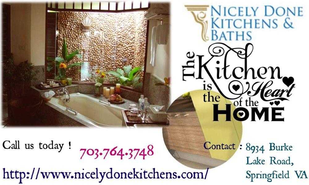Remodel Your Bathroom And Use Inspiration From Nicely Done Kitchens.Contact  Us Today !