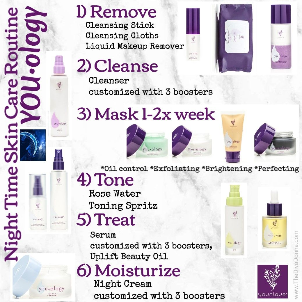 Youology Younique Night Time Skin Care Routine For The Most Beautiful Luxurious Skin You Ll Younique Skin Care Night Time Skin Care Routine Makeup Skin Care