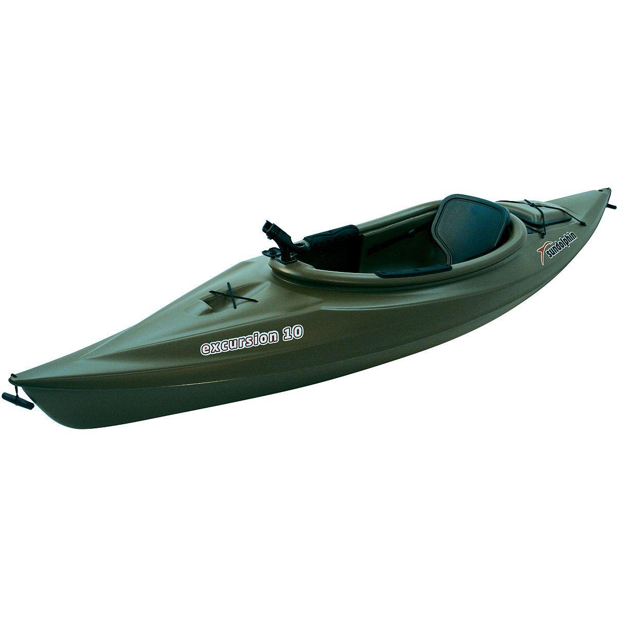 Sun Dolphin Excursion 10' sitin Fishing Kayak Olive