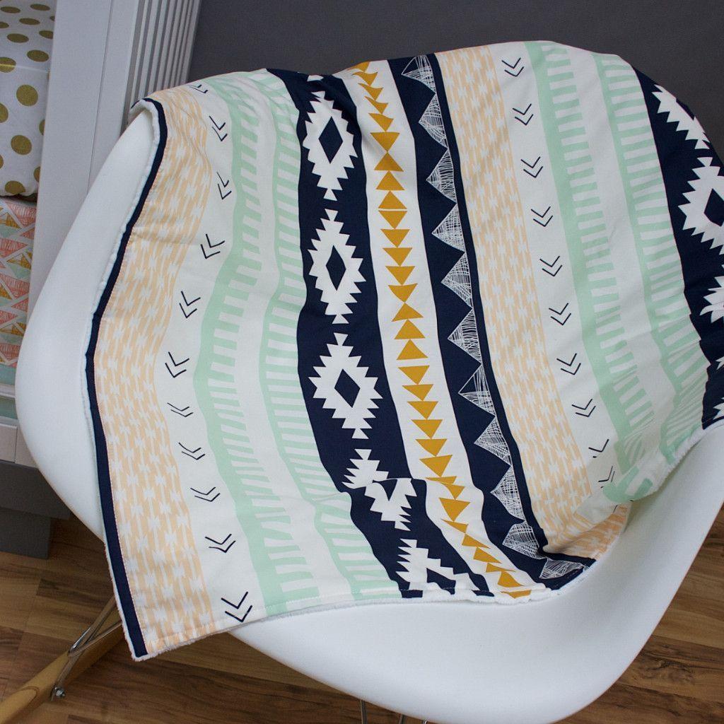 Aztec Minky Blanket
