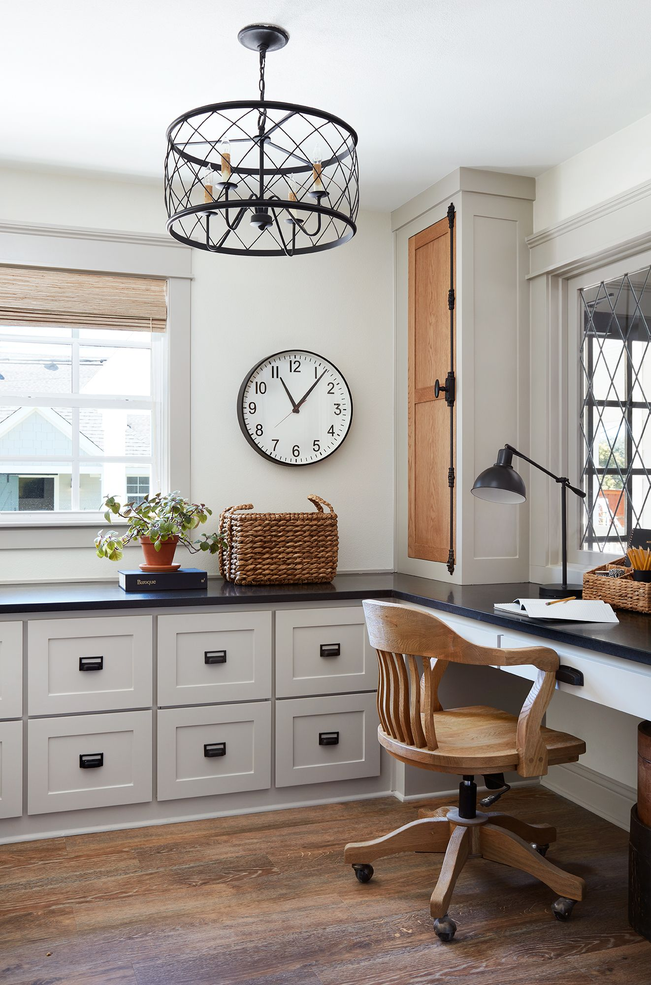 Home Office | Fixer Upper | Chip U0026 Joanna Gaines | Traditional | Waco, TX |