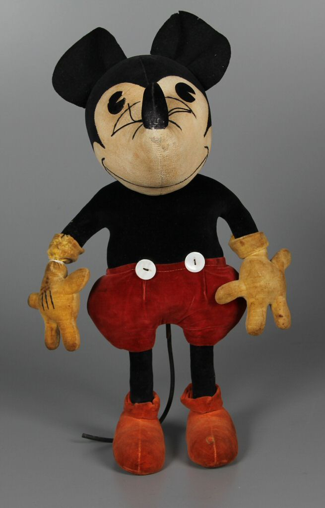 Velvet Mickey Mouse Stuffed Animal By
