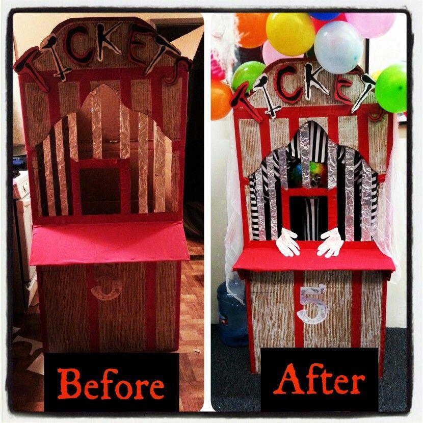 DIY carnival ticket booth Diy carnival, Fun diys