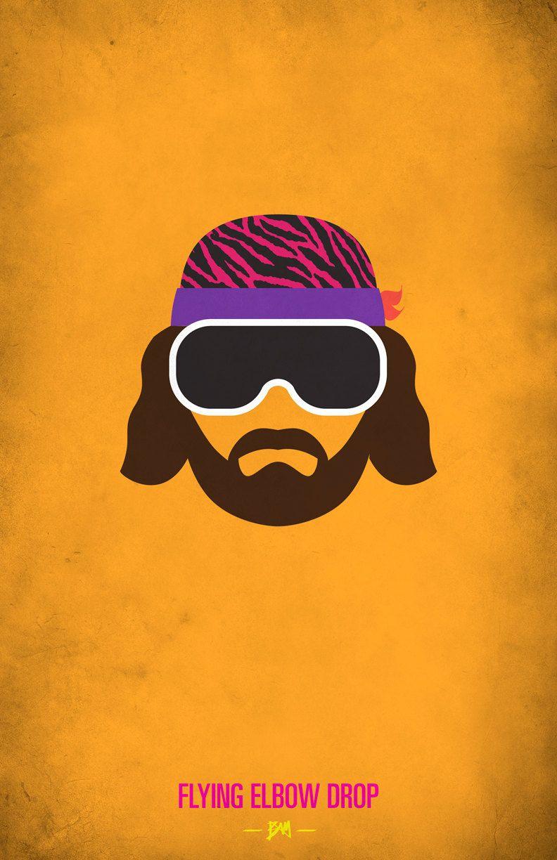 Wwf Legends Minimalist Poster Macho Man Randy Savage By Bam