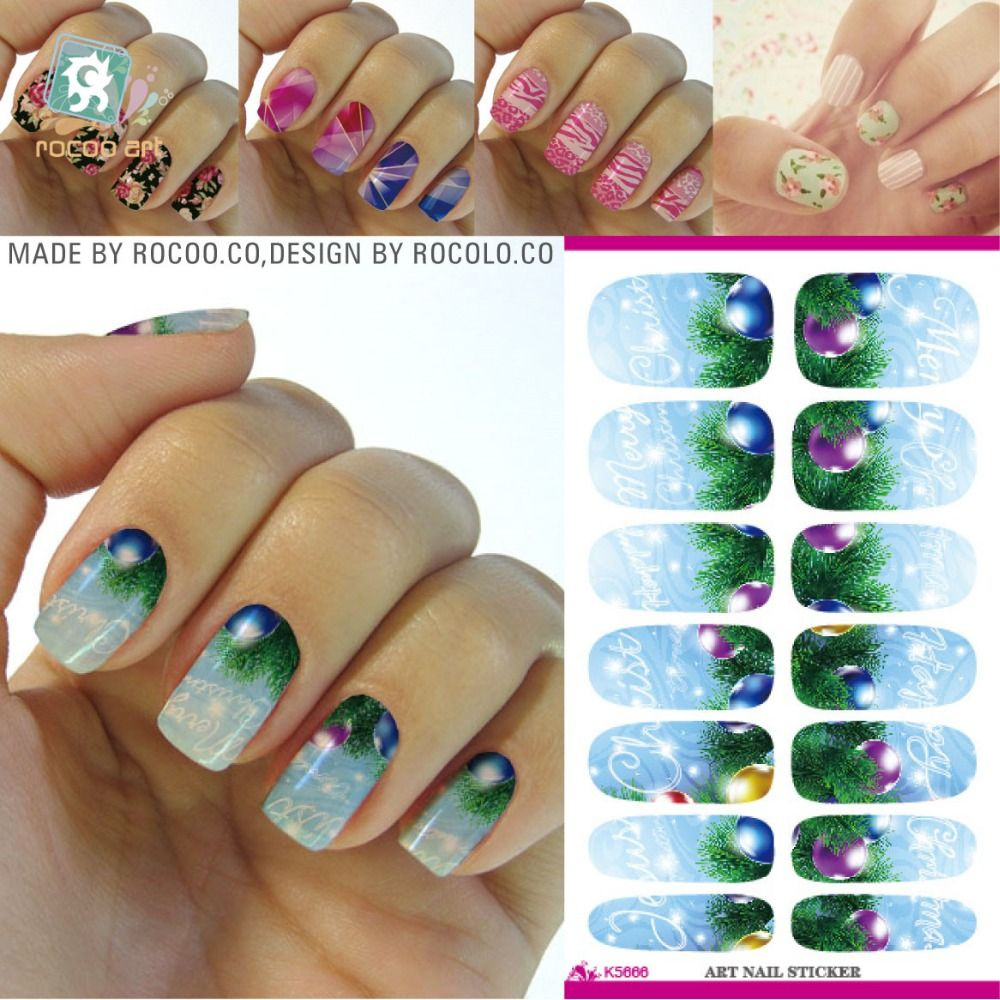 Holiday Christmas Nail Sticker Merry Christmas Letter Design Minx