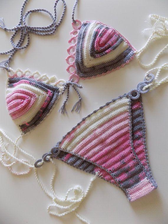 Swimwear,Bohemian Bikini,Crochet swimsuits,Crochet swimwear,Crochet ...
