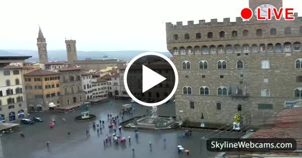 enchanting view of a rainy day in florence watch it live italy rh za pinterest com