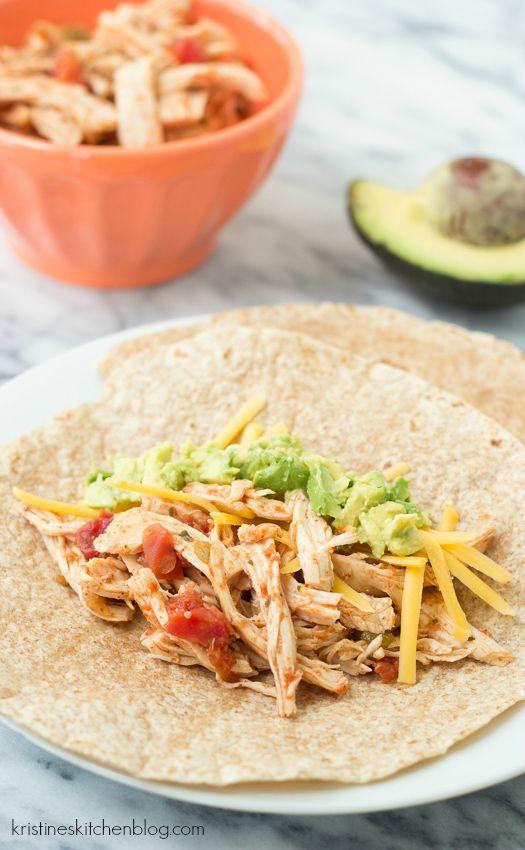 3-Ingredient Slow Cooker Taco Chicken - 10 Minuten prep, die einfachste überhaupt taco Huhn!