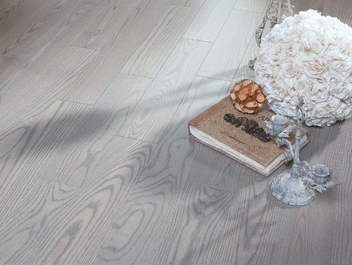 Ash Silvery Matte Lacquer Hardwood Flooring Contemporary Wood