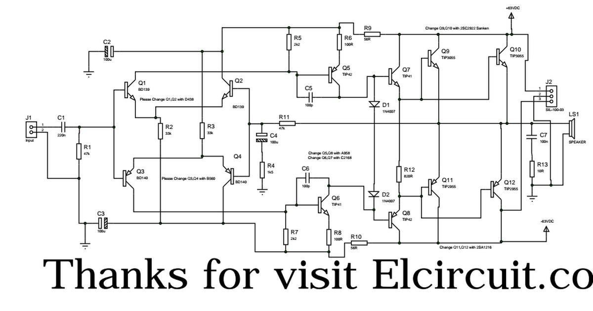 simple audio amplifier 2800w circuit diagram electronic circuits500w amplifier pdf technology in 2019 pdf, electronics, diagram simple audio amplifier 2800w circuit diagram electronic circuits