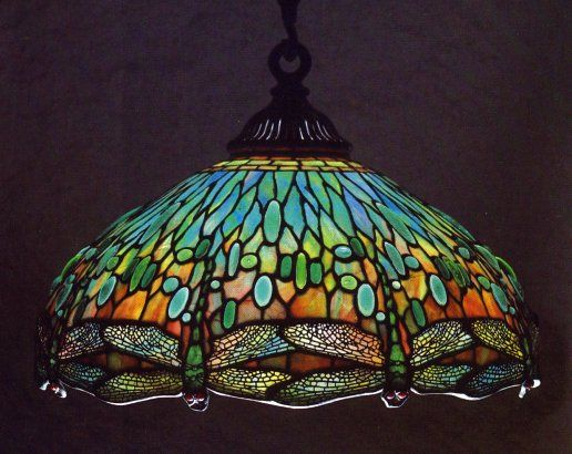 Tiffany Studios Hanging Head Dragonfly Chandelier