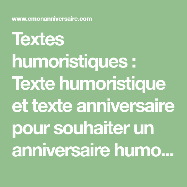 Texte Anniversaire Papa Humour
