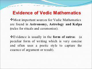 vedic maths ppt vedic maths tech math mathematics hinduism