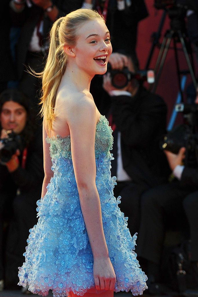 US actress Elle Fanning arrives for the screening of