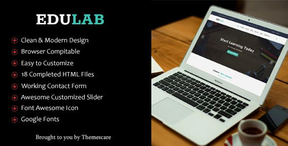 Edulab - Education HTML5 Template