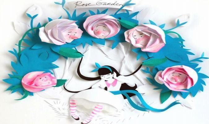 """Cùng phiêu lưu với """"Alice ở xứ sở thần tiên"""" qua nghệ thuật cắt giấy sống động - http://links.daikynguyenvn.com/v22Jy"""