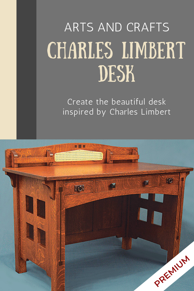 Arts And Crafts Desk Woodworking Plan Woodworking Desk Plans Woodworking Furniture Plans Craft Desk