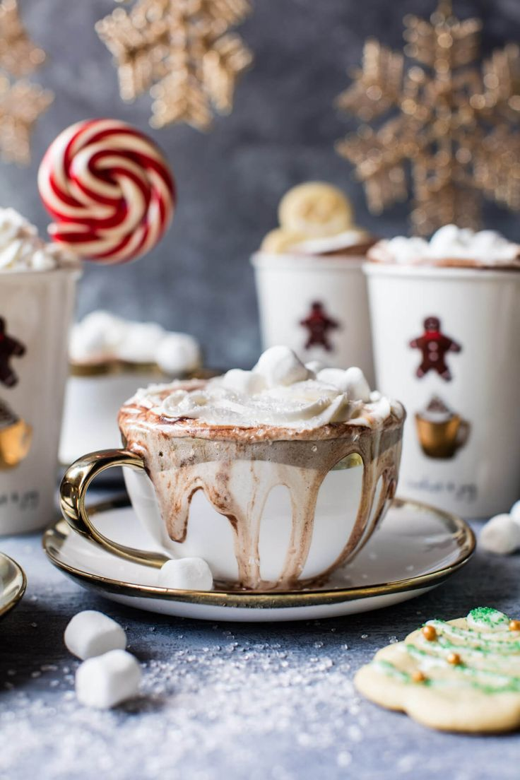Sugar Cookie Hot Chocolate #sugarcookierecipe
