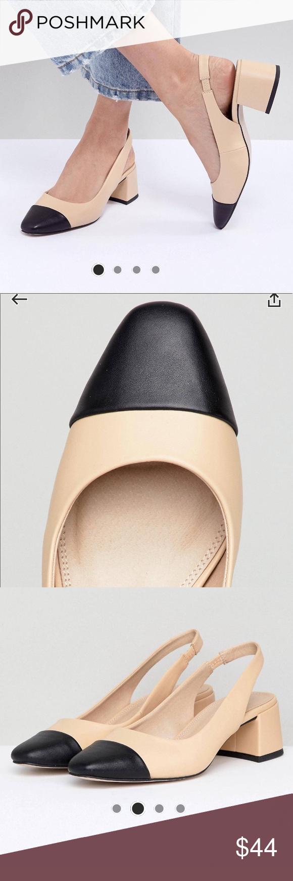 ASOS cap toe sling back heels NWT Heels, Chanel inspired