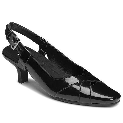 Womens Shoes Aerosoles Dimprint Black Patent