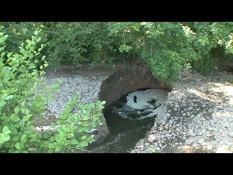 An entire river disappeared within a sinkhole in Normandy.
