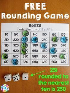 Roll It Rounding Game 3rd Gr Math Pinterest