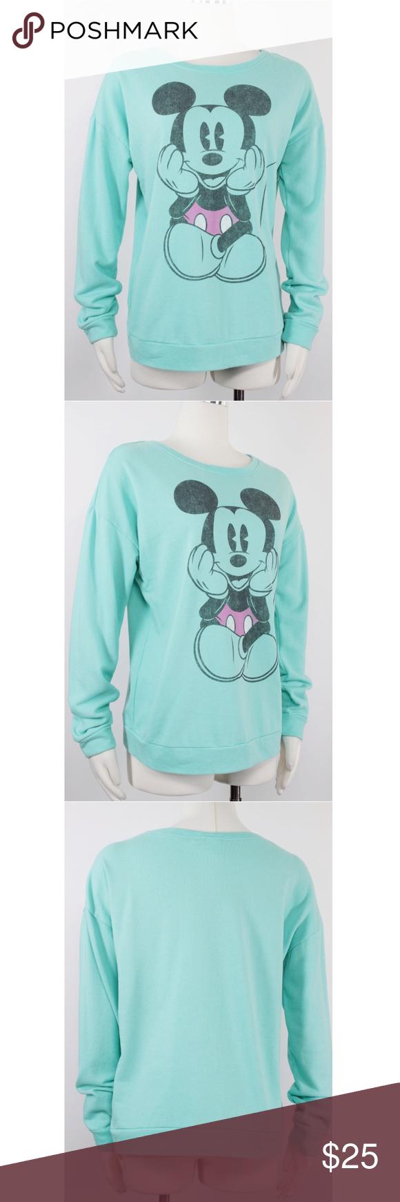 Disney   Mint Green Mickey Mouse Sweatshirt 1052 Disney