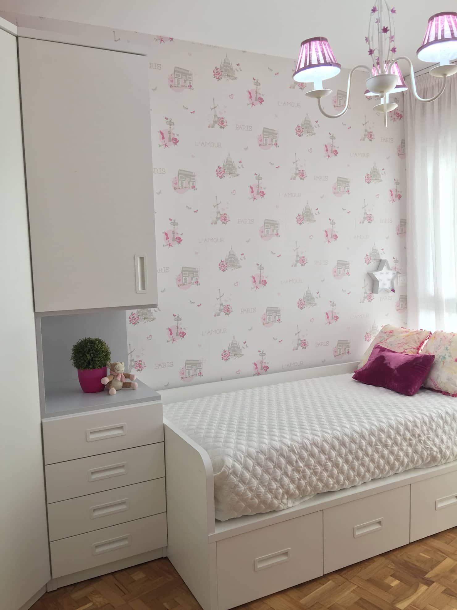 Dormitorio rosa para niña: dormitorios infantiles de estilo de noelia villalba, moderno