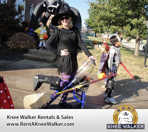 1 Dress Up As A Witch On Your Knee Scooter Cool Halloween