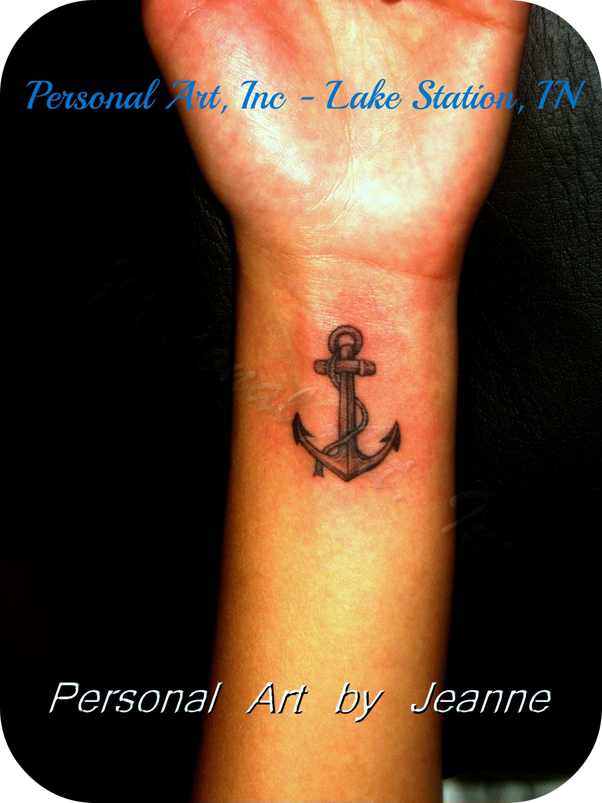 Her Dad Was A Navy Man She Got His Anchor As A Symbol Of How He