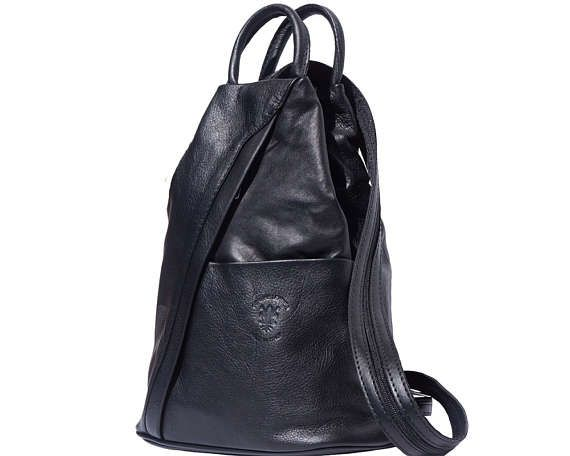 Finest Italian Soft Leather Convertible Backpack And Shoulder Bag