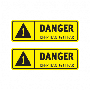 Danger Keep Hands Clear 14274 Clear Stickers Clear Vinyl
