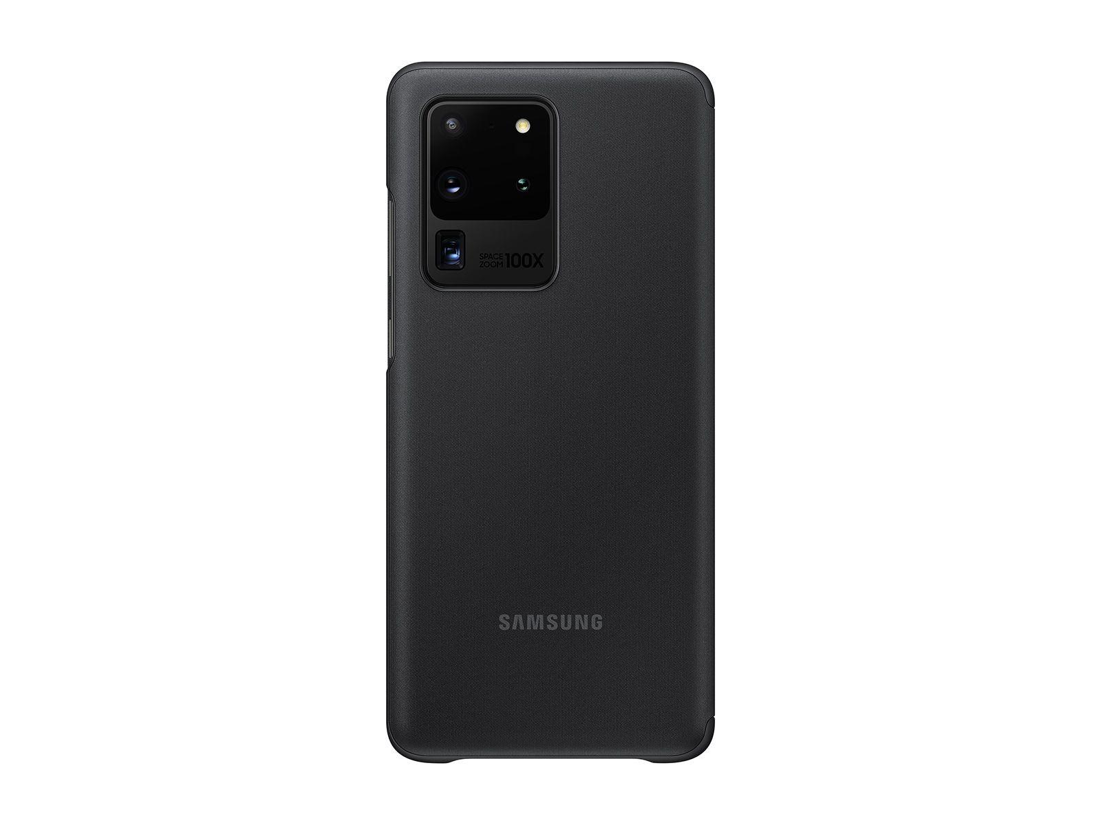 Galaxy S20 Ultra 5G S-View Flip cover Black Mobile Accessories - EF-ZG988CBEGUS | Samsung US