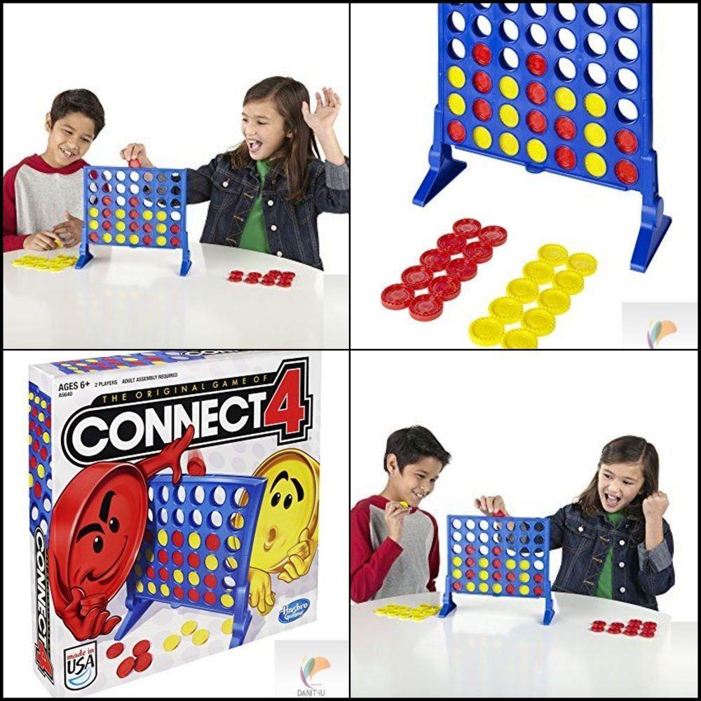 Connect 4 Game Hasbro Original Four Board Fun Complete U