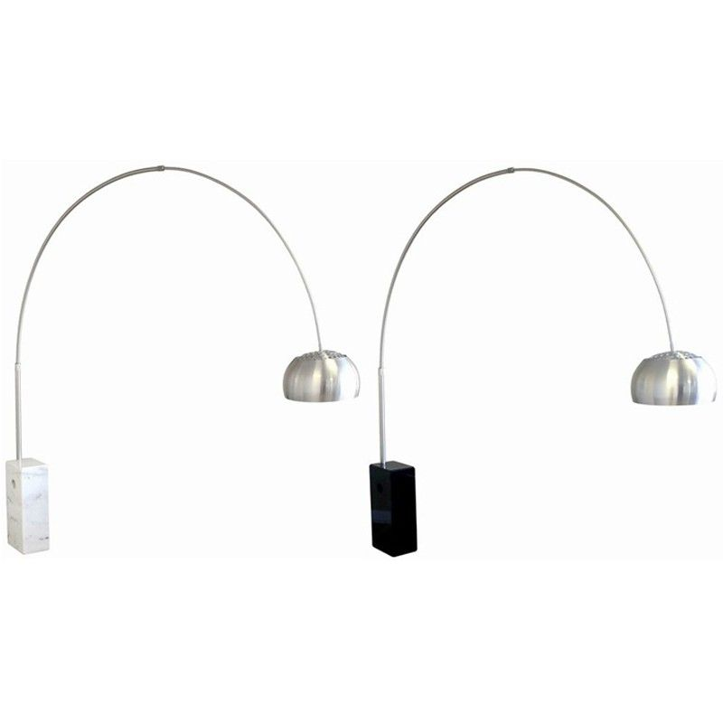 Arco Lamp Cube Marble Base