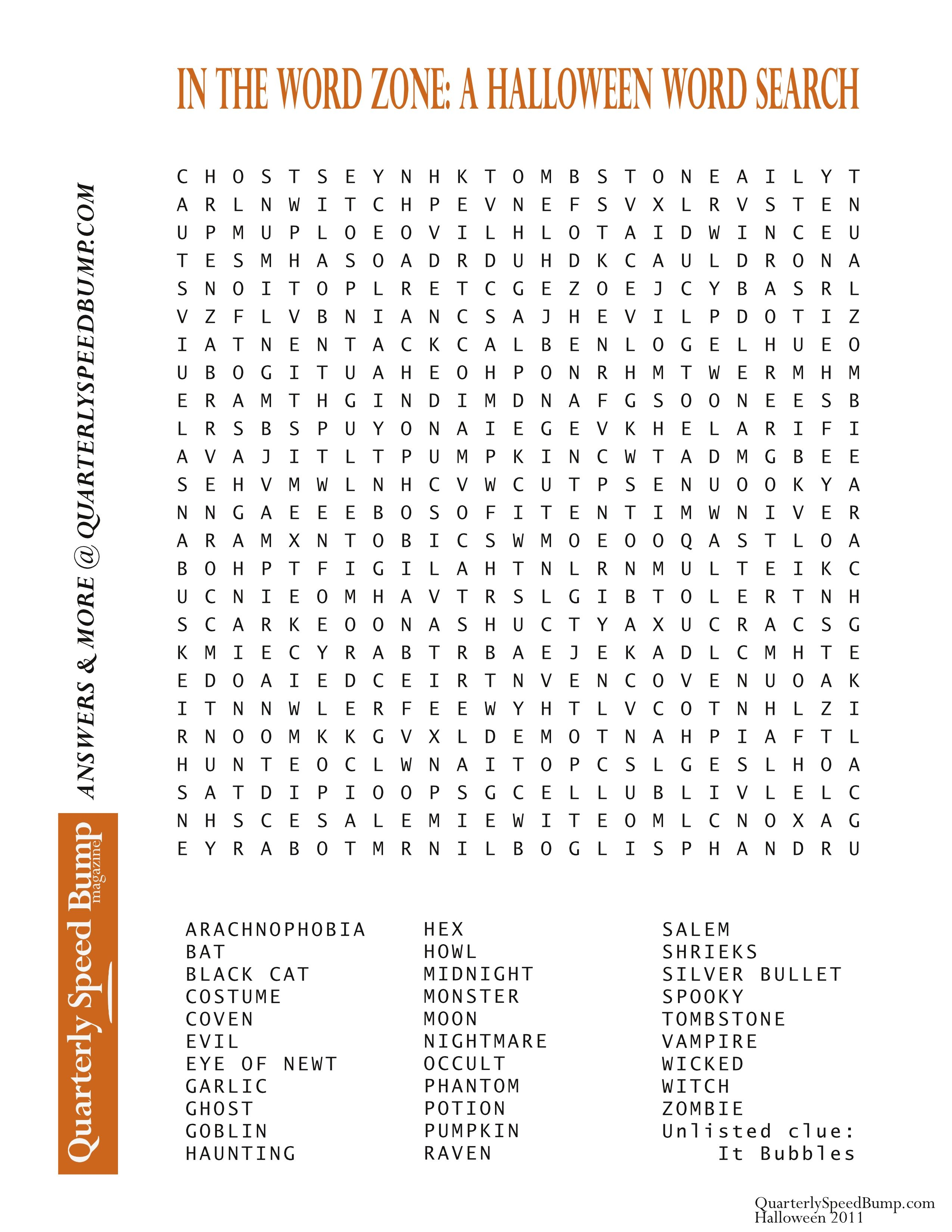 free printable halloween word search puzzles halloween puzzle for you - Halloween Word Game
