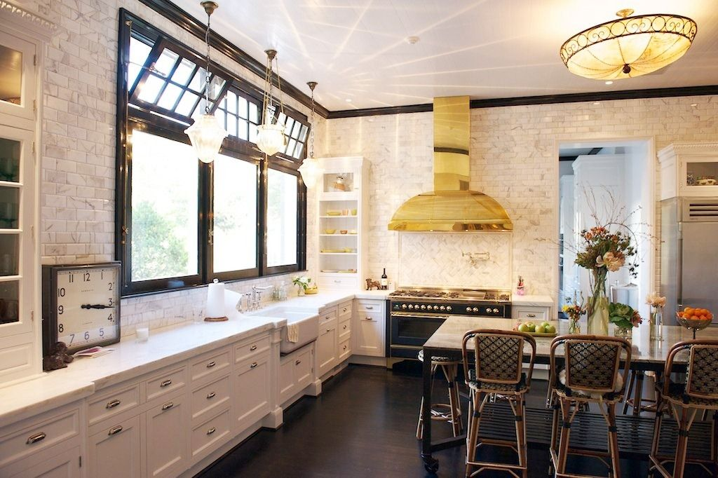 Picture Of Industrial Kitchen Ideas With Gold Chimney Extractor Fan Magnificent Antique Kitchen Design Exterior