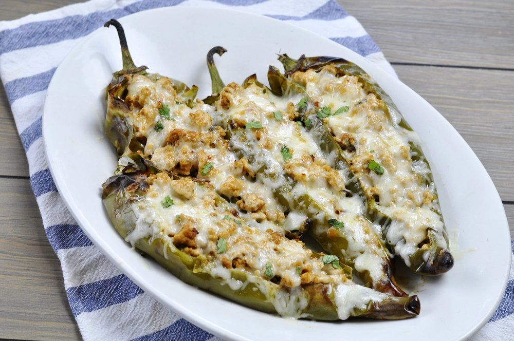Healthy Stuffed Hatch Chiles Stuffed Peppers Hatch Chile Hatch Chile Recipes