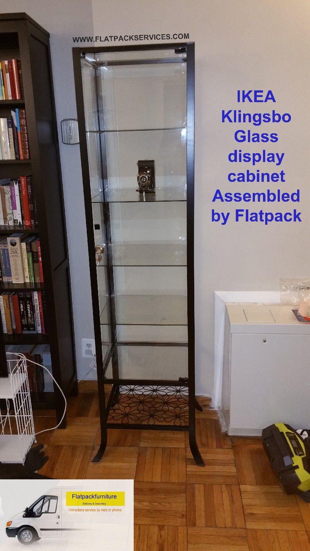 KLINGSBO Glass Door Cabinet, Article Number: 601.285.62 Assembled By  Flatpack Service 202 277 5911 Furniture Assembly | Flatpack Assembly   Find  Help Now ...