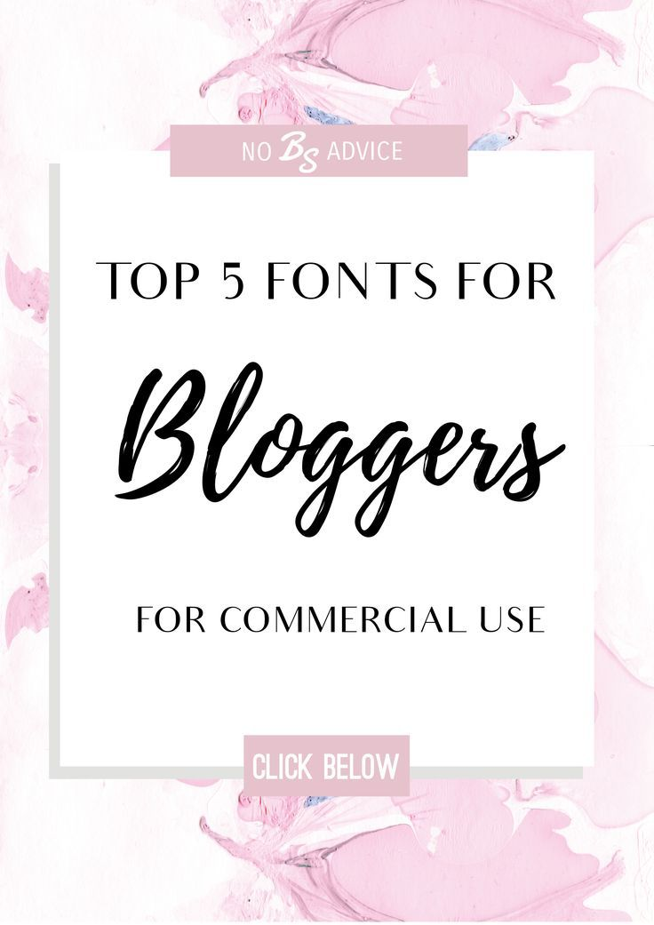 Download My favorite fonts for bloggers.Never waste time looking ...