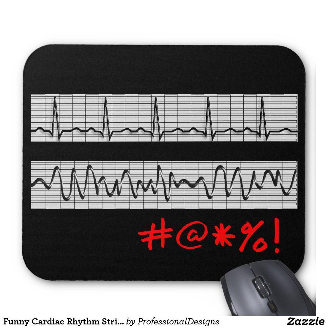 Funny Cardiac Rhythm Strip Gifts Mouse Pad