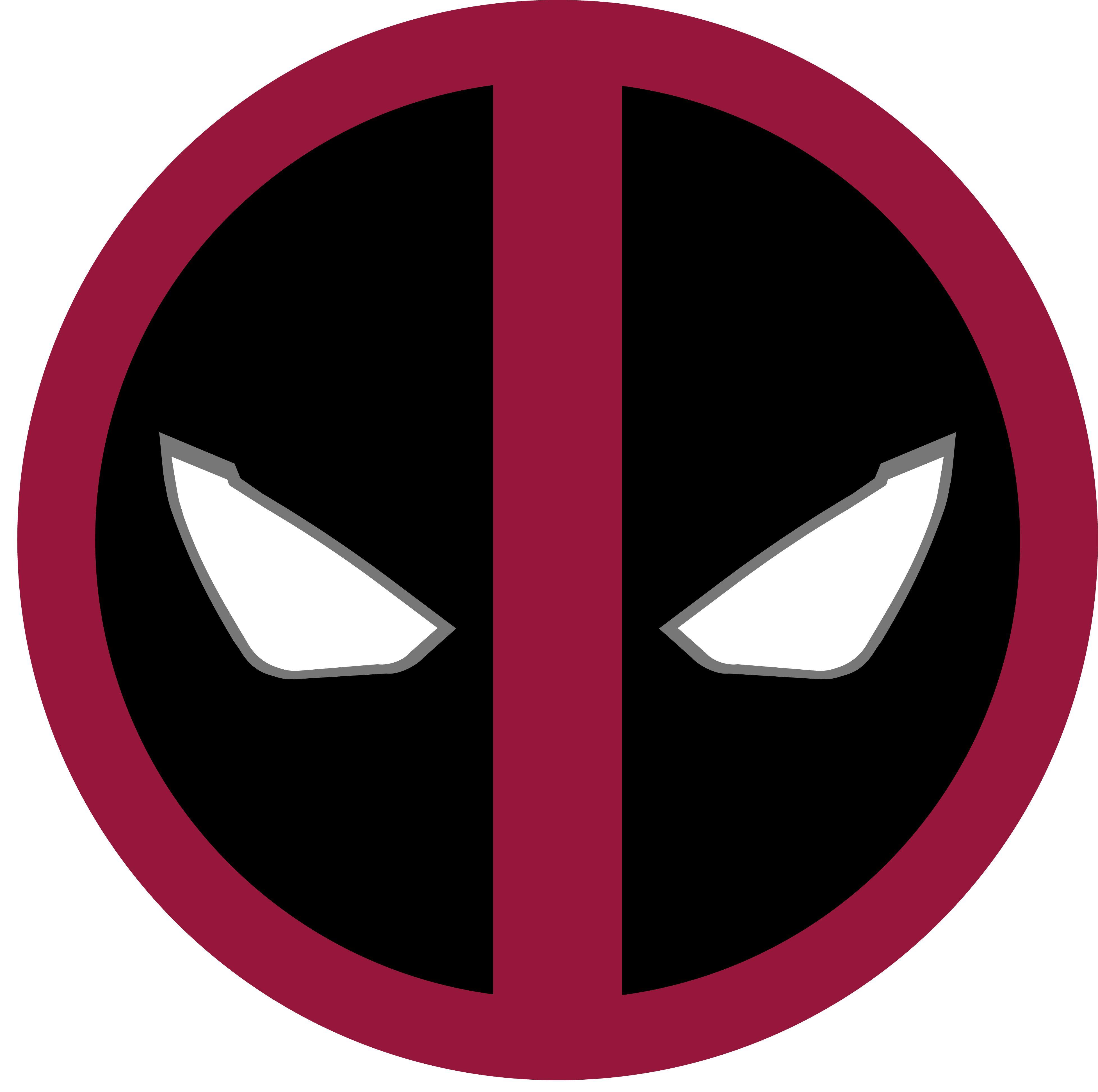 deadpool custom logo template  photoshop  illustrater