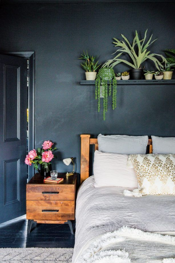 Take a look at these stylish, cosy bedrooms and join the dark side