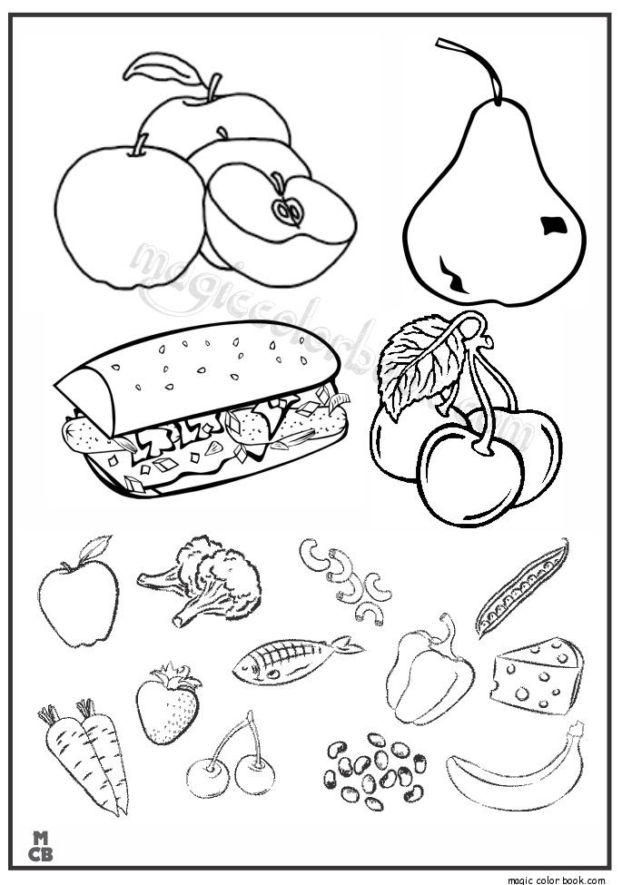 Pin by Magic Color Book on Food Coloring pages | Pinterest