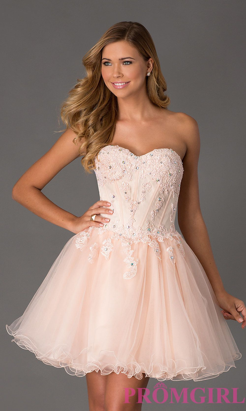 Strapless corset style prom dress shopping