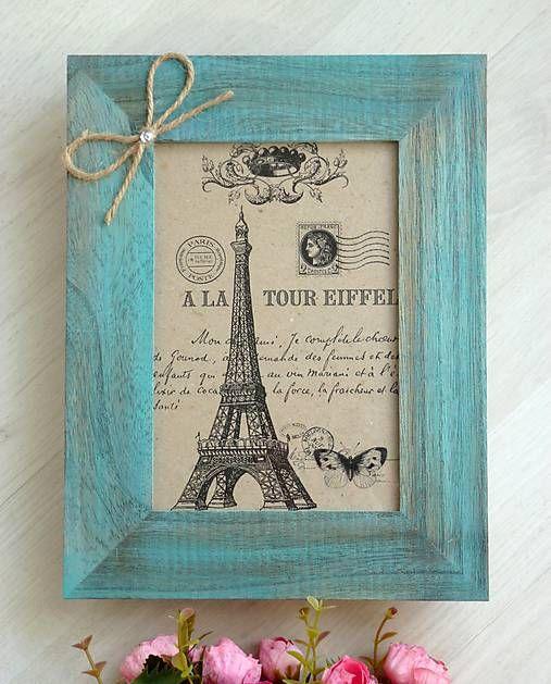 My-wonderland / Paríž v dreve rámik